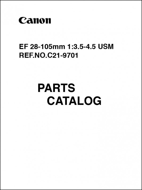 Canon EF 28-105mm f3.5-4.5 USM Parts Catalog