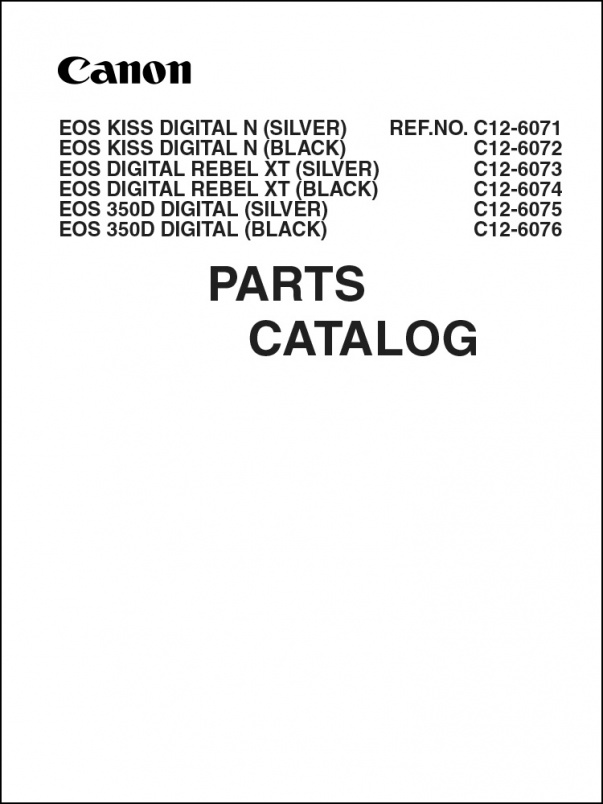 Canon EOS 350D Parts Catalog