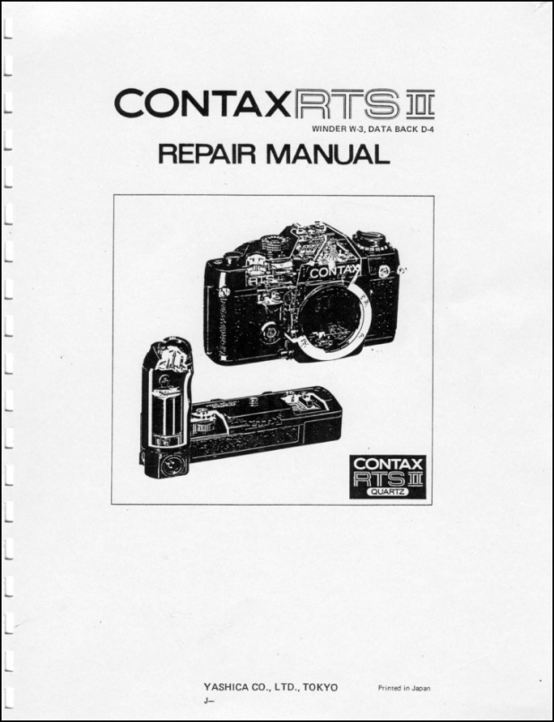 Contax RTS II Repair Manual