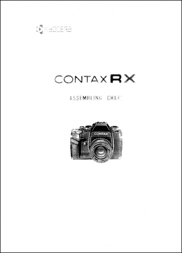Contax RX Assembly Chart