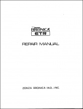 Bronica ETR Service Manual