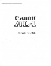 Canon AL-1 Service Manual