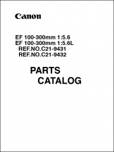 Canon EF 100-300mm f5.6L Parts Catalog