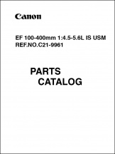 Canon EF 100-400mm f4.5-5.6L-IS USM Parts Catalog
