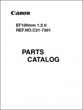 Canon EF 100mm f2 Parts Catalog