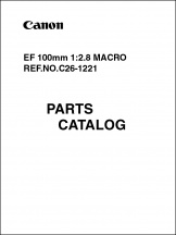 Canon EF 100mm f2.8 Macro Parts Catalog