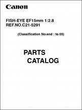 Canon EF 15mm f2.8 Fisheye Parts Catalog