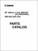 Canon EF 180mm f3.5 Macro Parts Catalog