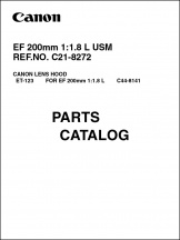 Canon EF 200mm f1.8L Parts Catalog