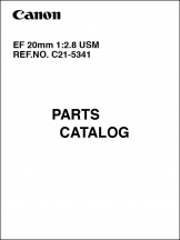 Canon EF 20mm f2.8 USM Parts Catalog