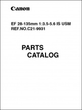 Canon EF 28-135mm f3.5-5.6 IS USM Parts Catalog