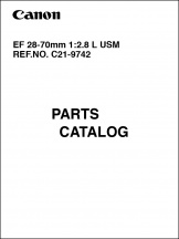 Canon EF 28-70mm f2.8L Parts Catalog