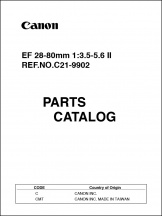 Canon EF 28-80mm f3.5-5.6 II Parts Catalog