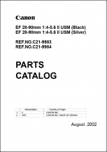 Canon EF 28-90mm f4-5.6 II Parts Catalog
