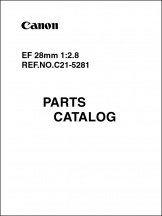 Canon EF 28mm f2.8 Parts Catalog