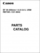 Canon EF 35-350mm f3.5-5.6L Parts Catalog