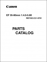 Canon EF 35-80mm f4-5.6 II Parts Catalog
