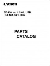 Canon EF 400mm f5.6L Parts Catalog