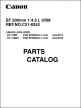Canon EF 500mm f4.5L Parts Catalog