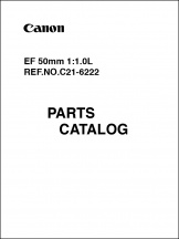 Canon EF 50mm f1.0L Parts Catalog