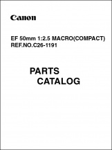 Canon EF 50mm f2.5 Compact Macro Parts Catalog