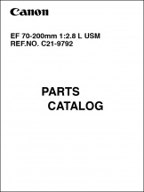 Canon EF 70-200mm f2.8L Parts Catalog