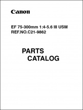Canon EF 75-300mm f4-5.6 III USM Parts Catalog