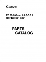 Canon EF 80-200mm f4-5.6 II Parts Catalog