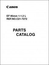 Canon EF 85mm f1.2L Parts Catalog