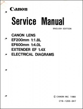 Canon EF Telephotos Service Manual