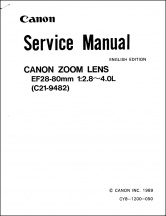 Canon EF 28-80mm f2.8-4L Service Manual