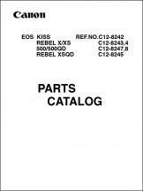 Canon EOS-500 Parts Catalog