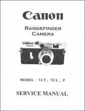 Canon Rangefinder Service Manual