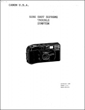 Canon Sure Shot Supreme Service Manual