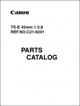 Canon TS-E 45mm f2.8L Parts Catalog