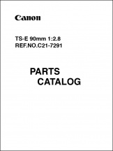 Canon TS-E 90mm f2.8L Parts Catalog