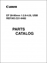 Canon EF 28-80mm f2.8-4L Parts Catalog