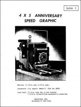 Graflex 4x5 Anniversary Speed Graphic Service Manual