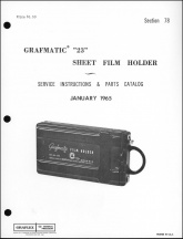Graflex Grafmatic 23 Service Manual