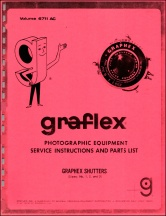 Graflex Graphex Leaf Shutters Service Manual