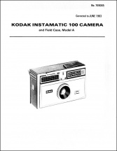 Kodak Instamatic 100 Service Manual