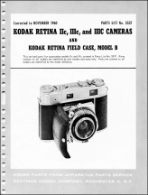 Kodak Folding Retina Parts List
