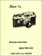 Leica IIIg Repair Manual