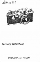Leica IIIf Repair Manual