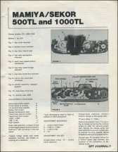 Mamiya 500TL - 1000TL Repair Article