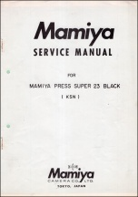 Mamiya Press Super-23 Service Manual