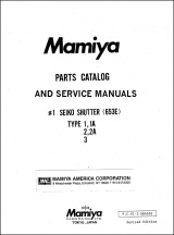 Mamiya RB-67 Lenses and Shutters Repair Manual