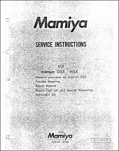 Mamiya MSX and DSX Service Manual