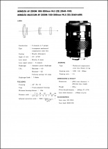 Minolta AF 100-200mm f4.5 Service Manual