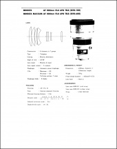 Minolta AF 200mm f2.8 APO Service Manual